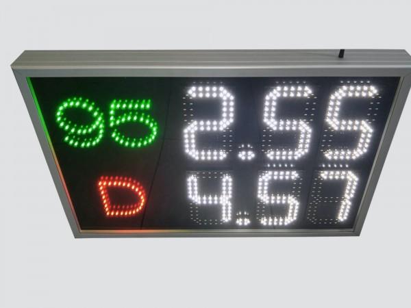 Afisaj electronic COMPLET pentru BENZINARII, dimensiune 785mm x 520mm, digit 98 x 182