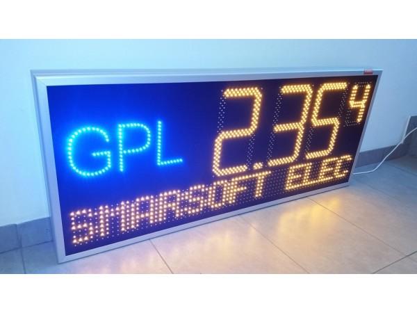 Afisaj electronic cu LED-uri pentru statiile GPL