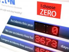Panou cu LED-uri contorizare zile accidente 1000mm x 700mm