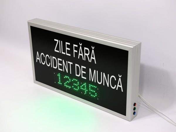Afisaj electronic 700mm x 400mm, functia numarator zile de la ultimul accident
