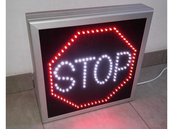 Panou LED informare 400 x 400 STOP