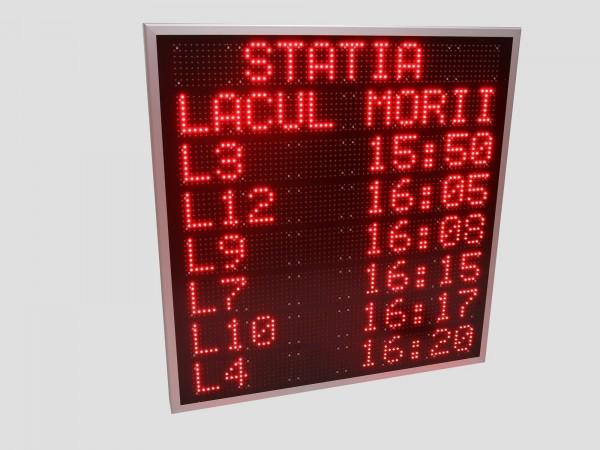 Panou LED 900mm x 930mm pentru statii de autobuz - informare calatori