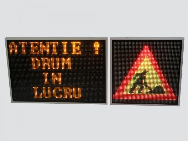 Sistem electronic cu LED-uri pentru INFORMARE TRAFIC