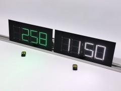 Sistem format din ceas si numarator zile accidente pentru panourile privind siguranta muncii