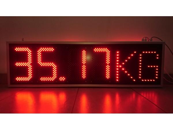 Afisaj electronic 1125mm x 338mm, digit 120 x 225,  intrare 4-20 mA
