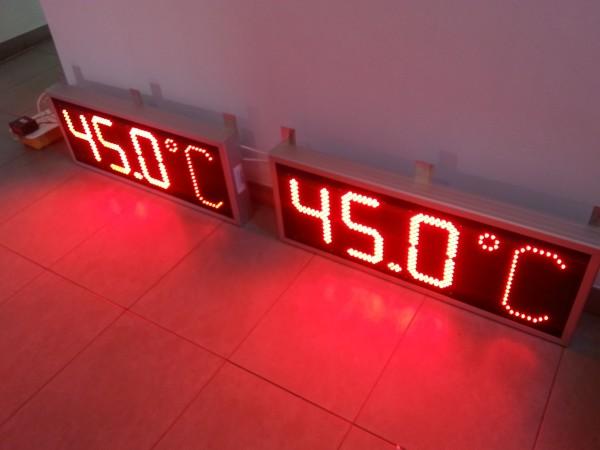 Sistem afisaje electronice sicronizate, afisare temperatura XX,X °C, digit 120x225