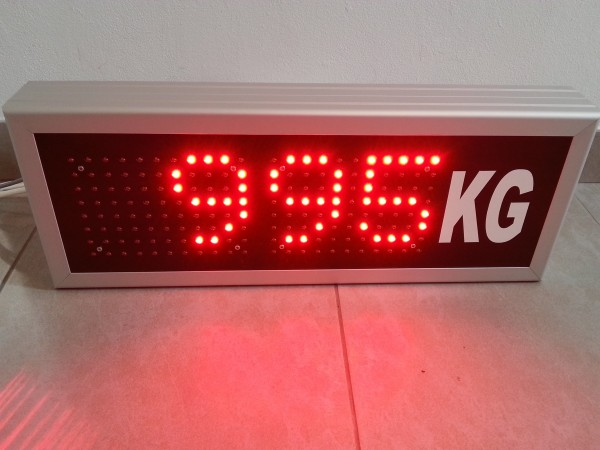 Afisaj electronic 560 x 212, DP16mm, intrare 4-20mA