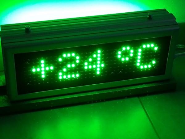 Termometru cu LED-uri, 410 x 160