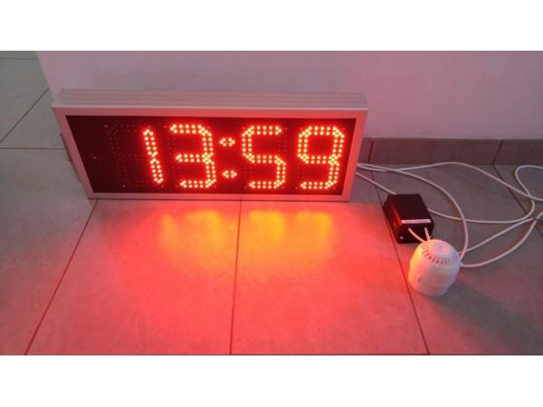 Ceas electronic model 1, Ora-Data-Temperatura, 696mm x 283mm, dispozitiv de comanda ETHERNET si actionare SONERIE EXTERNA