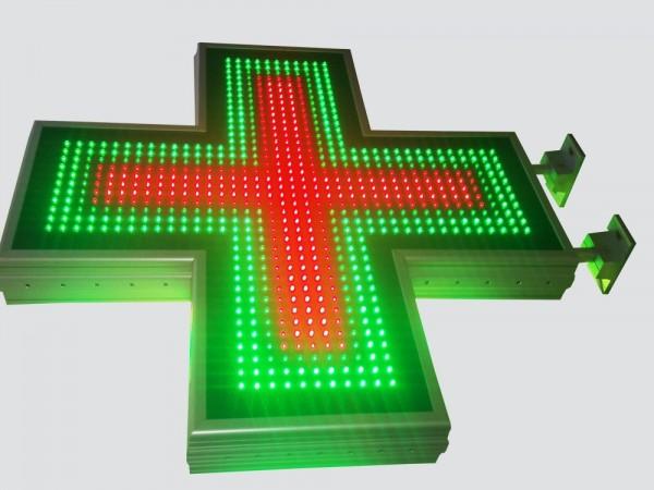 Cruce farmacie 800 x 800 SEMNALIZARE, model FULL LED