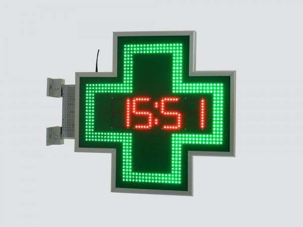 Cruce farmacie 600 x 600, model Ora-Data-Temperatura