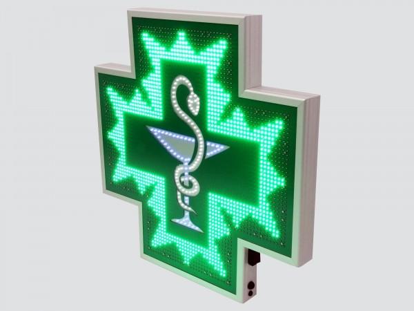 Cruce farmacie 850 x 850 SEMNALIZARE, model CADUCEU