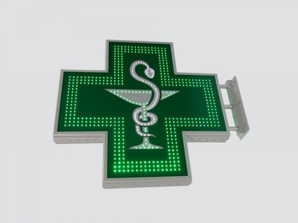 Cruce farmacie 900 x 900 SEMNALIZARE, model CADUCEU