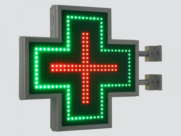 Cruce farmacie 500 x 500 SEMNALIZARE, model CLASIC