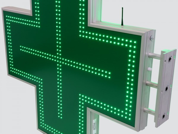 Cruce farmacie 1200 x 1200 SEMNALIZARE, model CLASIC