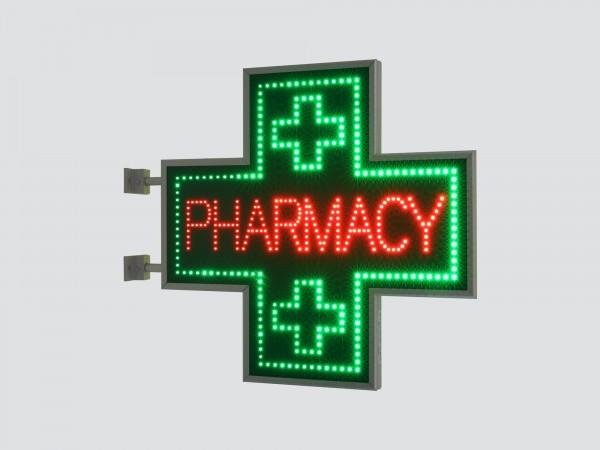 Cruce farmacie 850 x 850 gama SEMNALIZARE, model PHARMACY