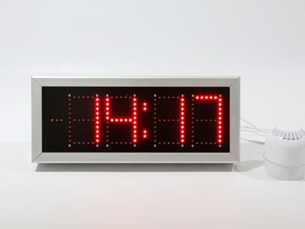 Ceas electronic model 7, Ora-Data-Temperatura, 457mm x 191mm, dotat cu SONERIE EXTERNA