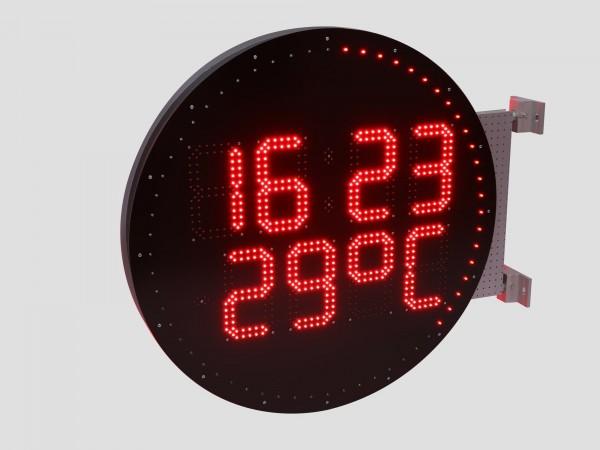 Ceas electronic cu LED-uri, forma rotunda, diametru 800mm