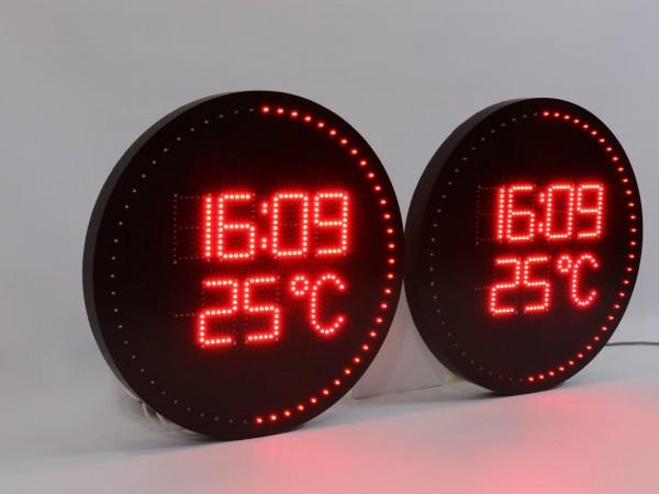 Sistem ceasuri forma rotunda, gama ODT, carcasa rasina, sincronizate prin fir